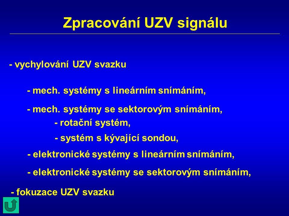 Zpracování UZV signálu
