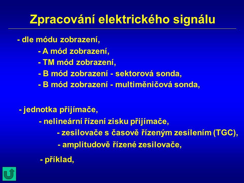 Zpracování elektrického signálu