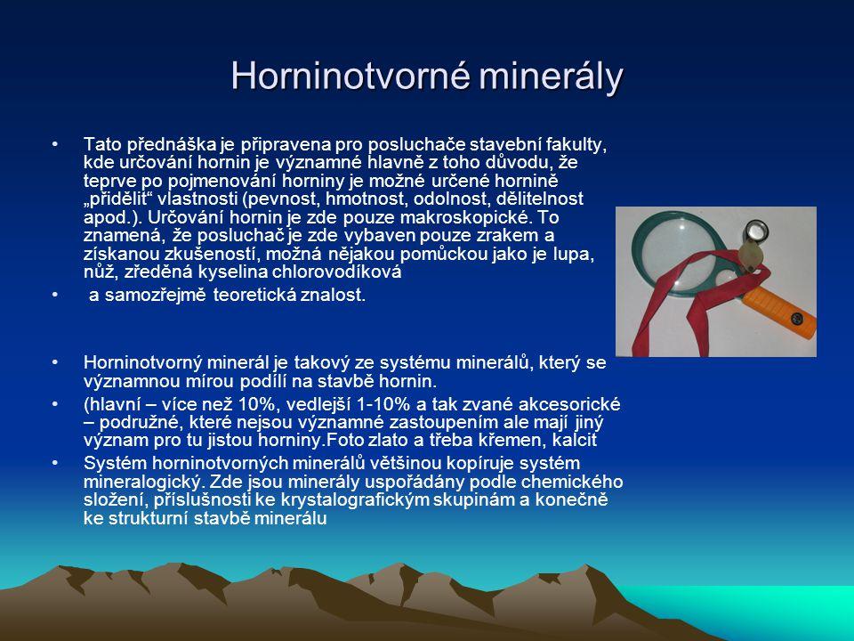 Horninotvorné minerály