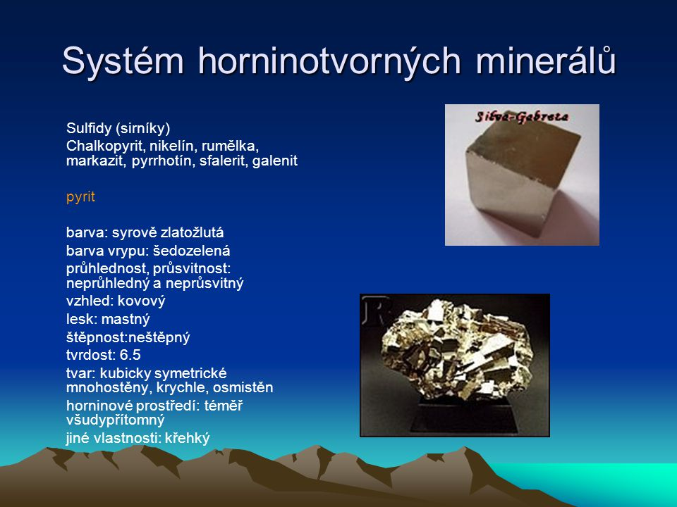 Systém horninotvorných minerálů