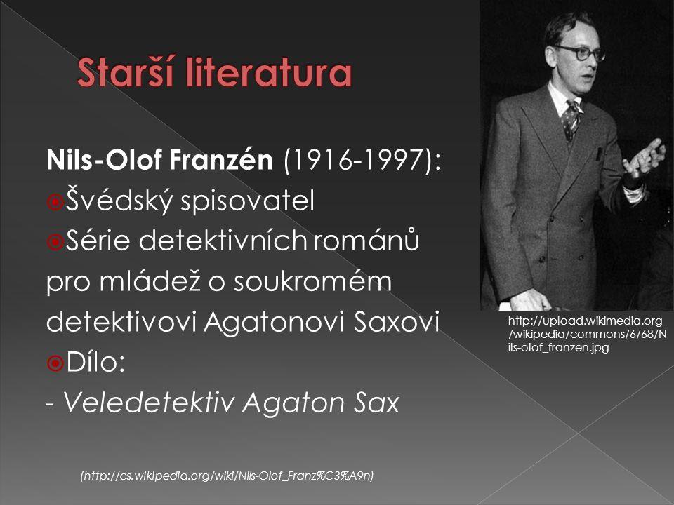 Starší literatura Nils-Olof Franzén (1916-1997): Švédský spisovatel