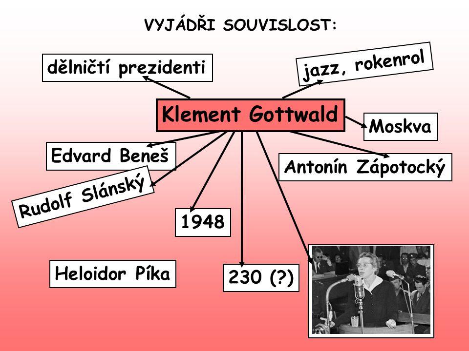 Klement Gottwald jazz, rokenrol dělničtí prezidenti Moskva