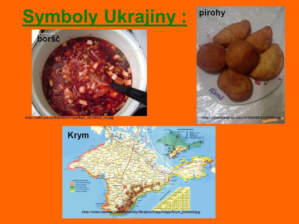 Symboly Ukrajiny : pirohy boršč Krym