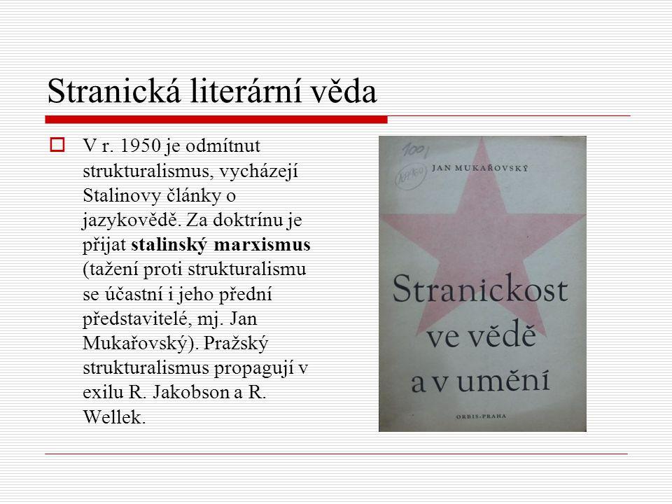 Stranická literární věda