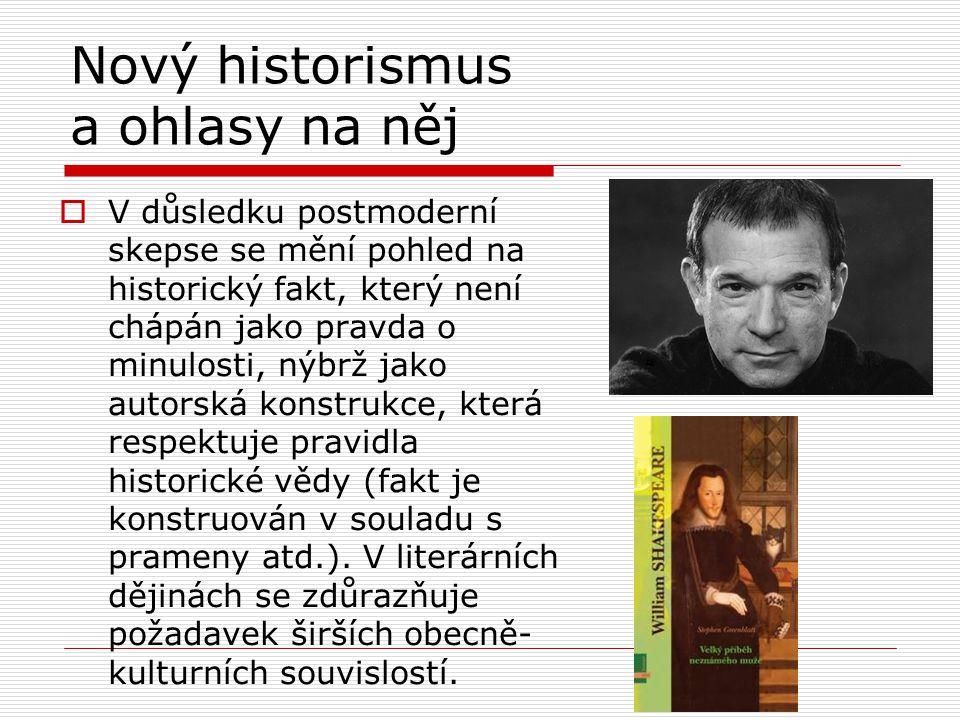 Nový historismus a ohlasy na něj