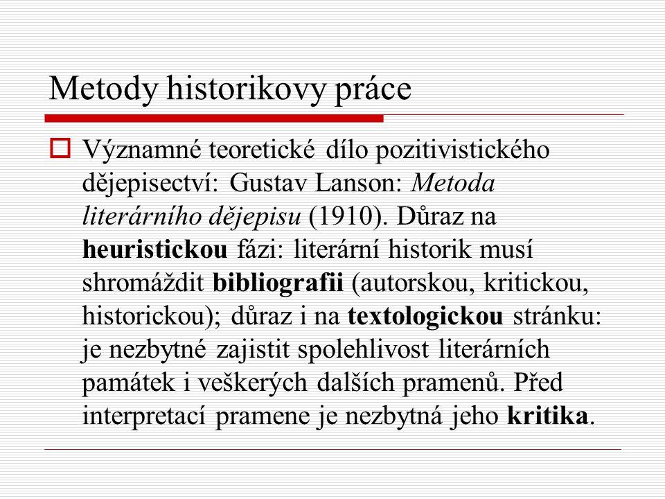Metody historikovy práce