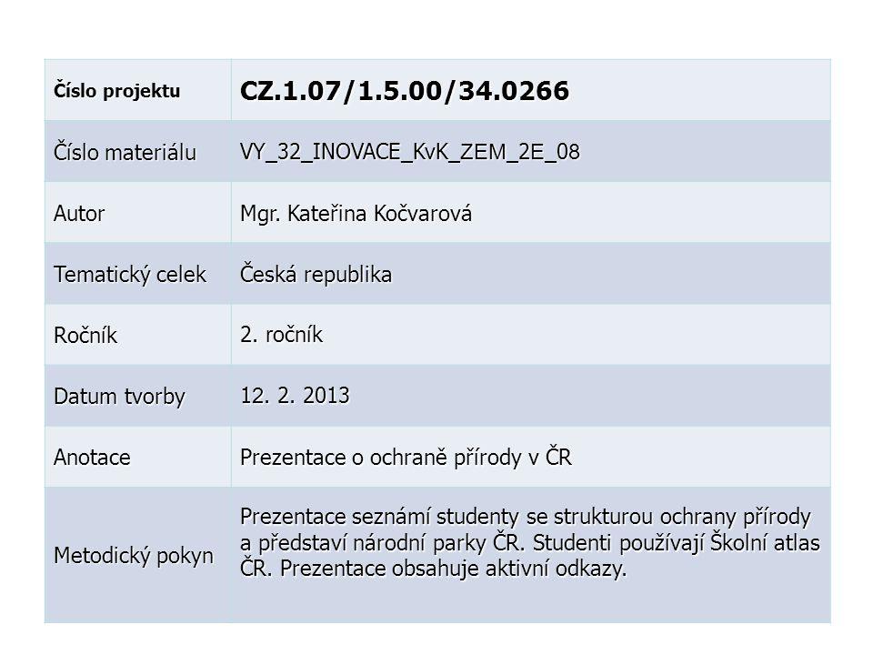 CZ.1.07/1.5.00/34.0266 Číslo materiálu VY_32_INOVACE_KvK_ZEM_2E_08