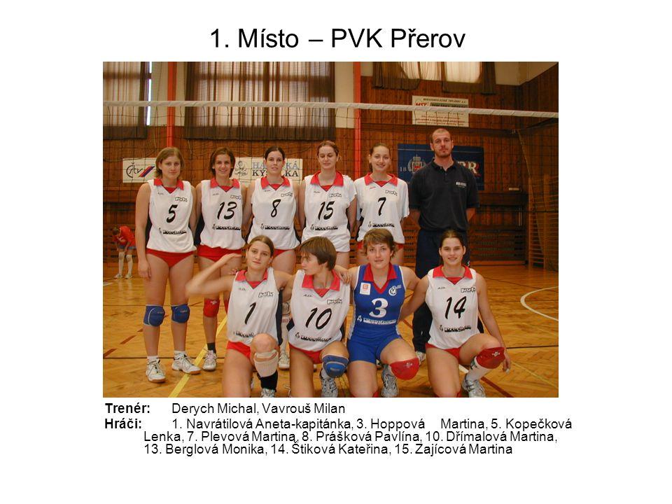 1. Místo – PVK Přerov Trenér: Derych Michal, Vavrouš Milan