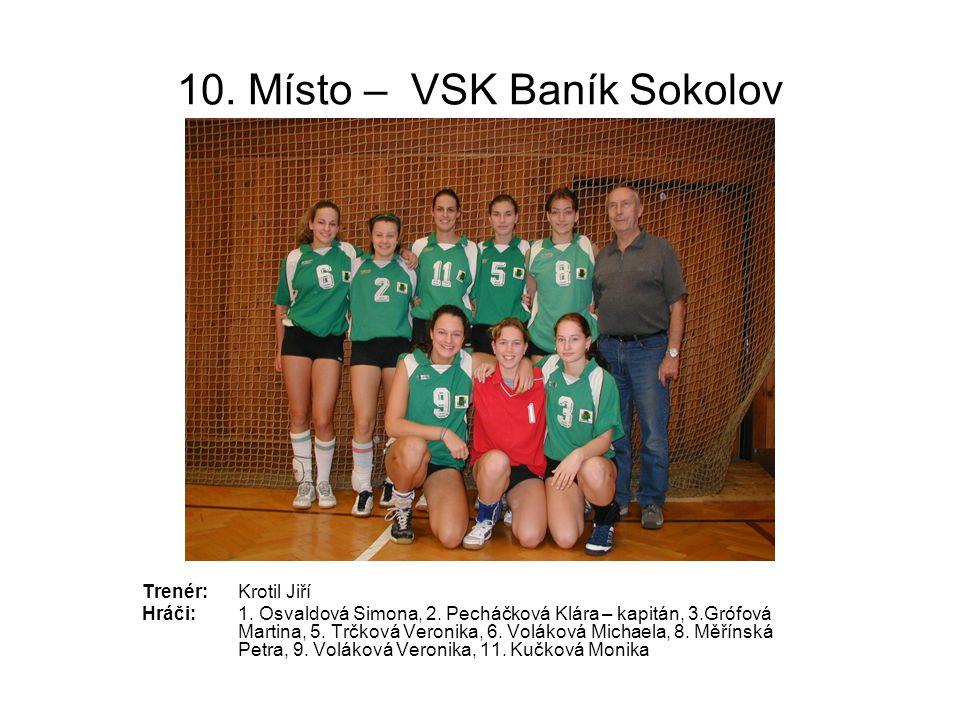 10. Místo – VSK Baník Sokolov