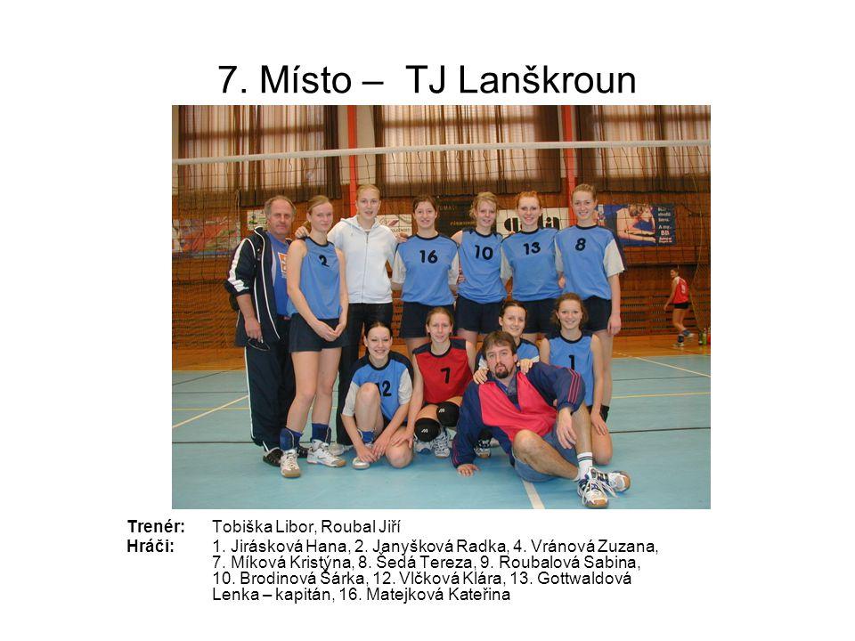 7. Místo – TJ Lanškroun Trenér: Tobiška Libor, Roubal Jiří