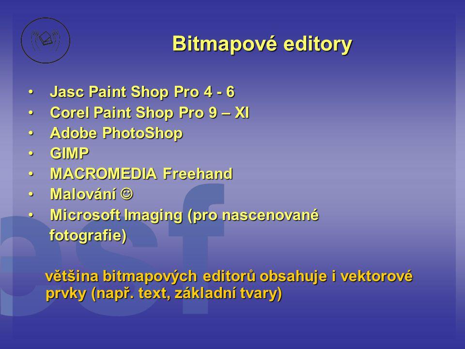 Bitmapové editory Jasc Paint Shop Pro 4 - 6