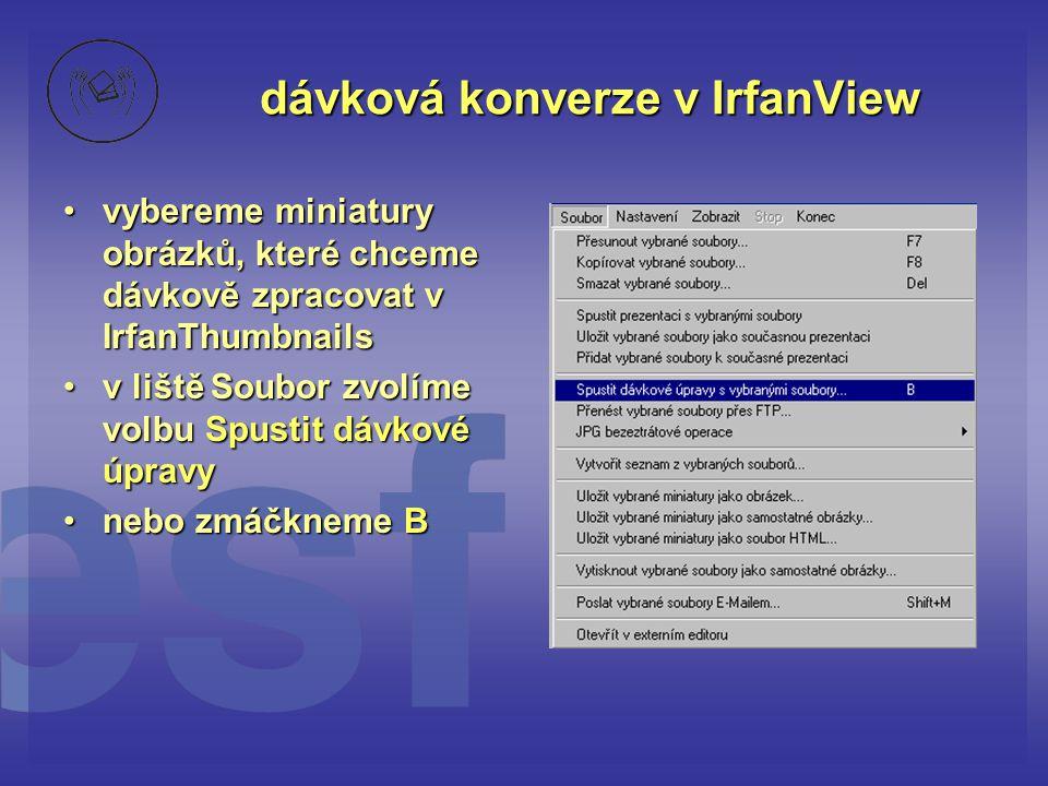 dávková konverze v IrfanView
