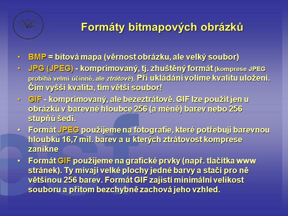 Formáty bitmapových obrázků