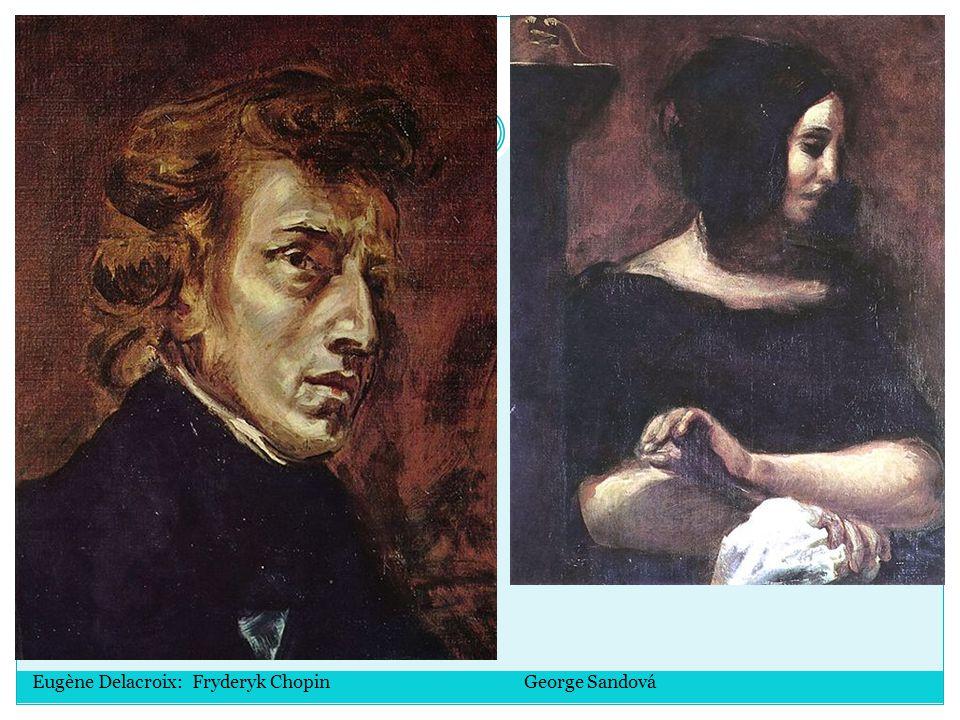 Eugène Delacroix: Fryderyk Chopin George Sandová