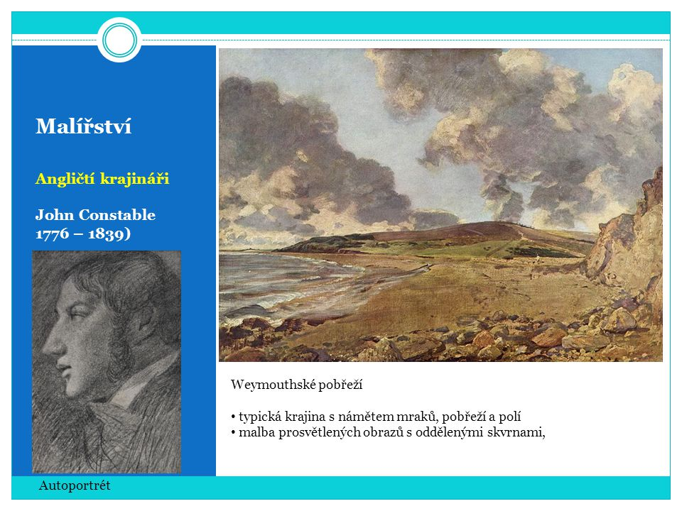 Malířství Angličtí krajináři John Constable 1776 – 1839)
