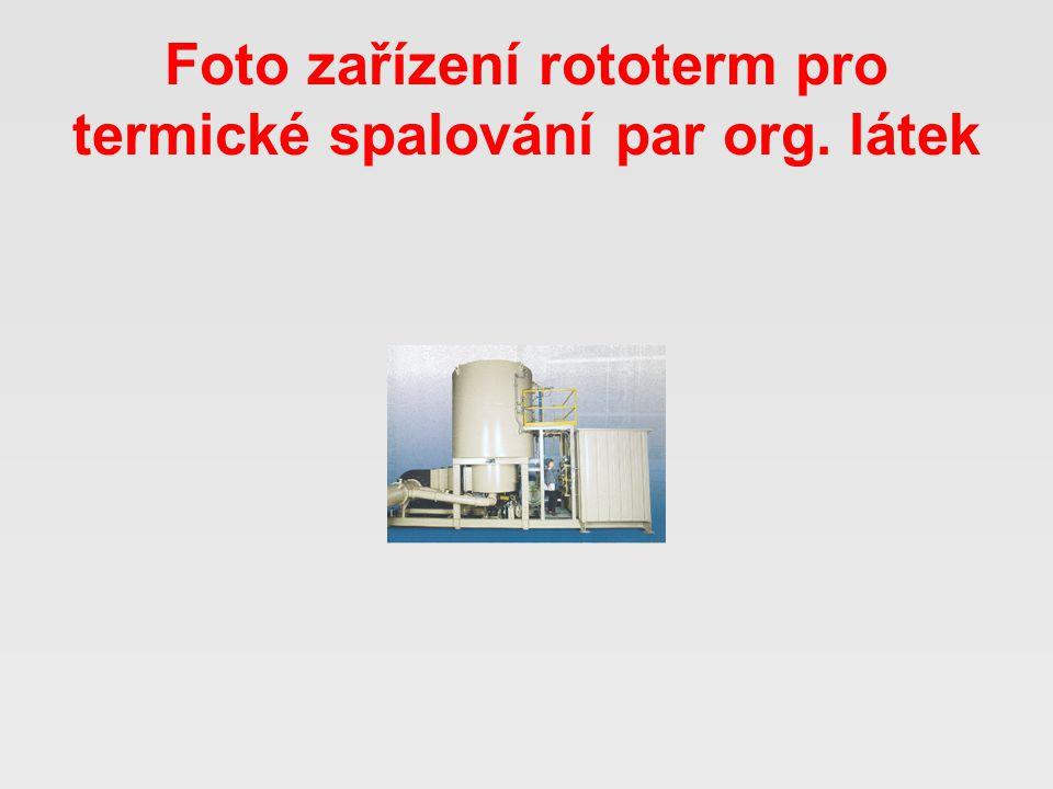 Foto zařízení rototerm pro termické spalování par org. látek