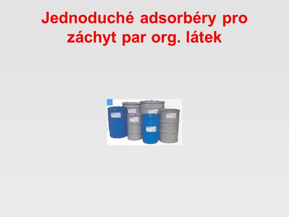 Jednoduché adsorbéry pro záchyt par org. látek