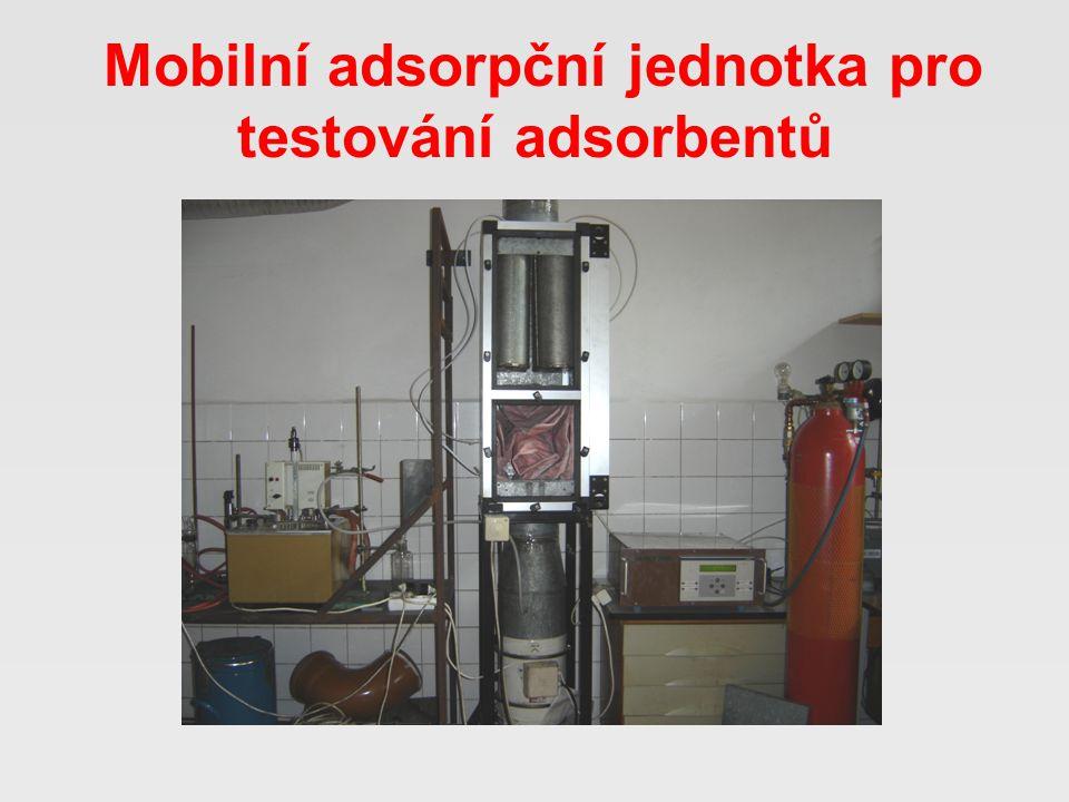 Mobilní adsorpční jednotka pro testování adsorbentů