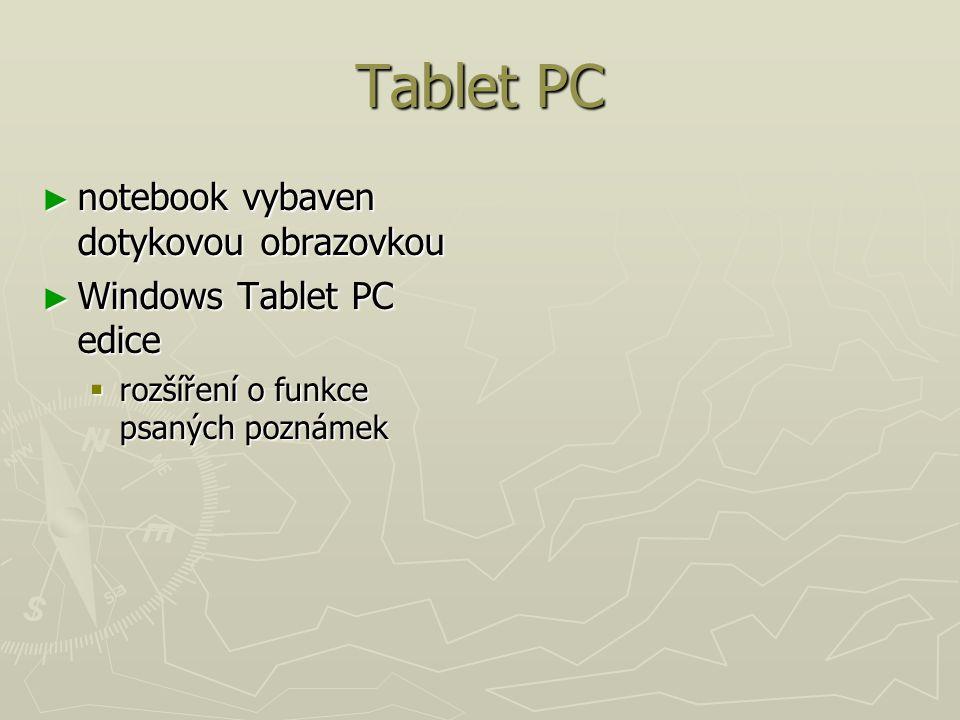 Tablet PC notebook vybaven dotykovou obrazovkou