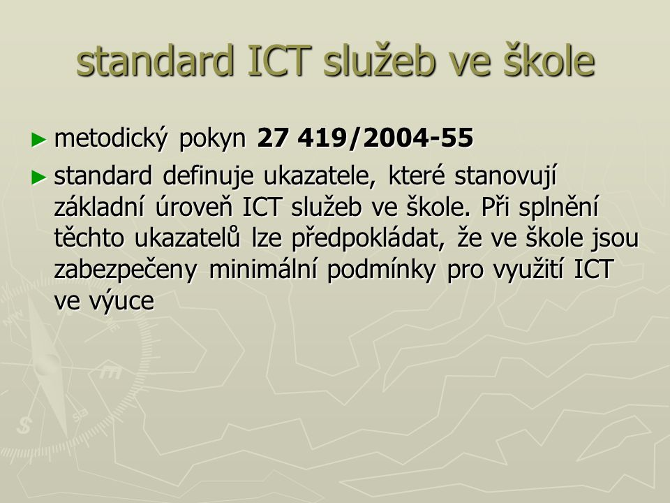standard ICT služeb ve škole