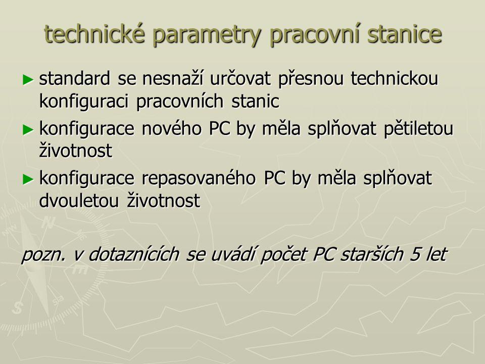 technické parametry pracovní stanice
