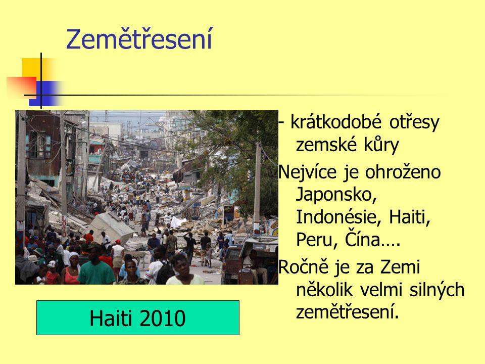 Zemětřesení Haiti 2010 - krátkodobé otřesy zemské kůry