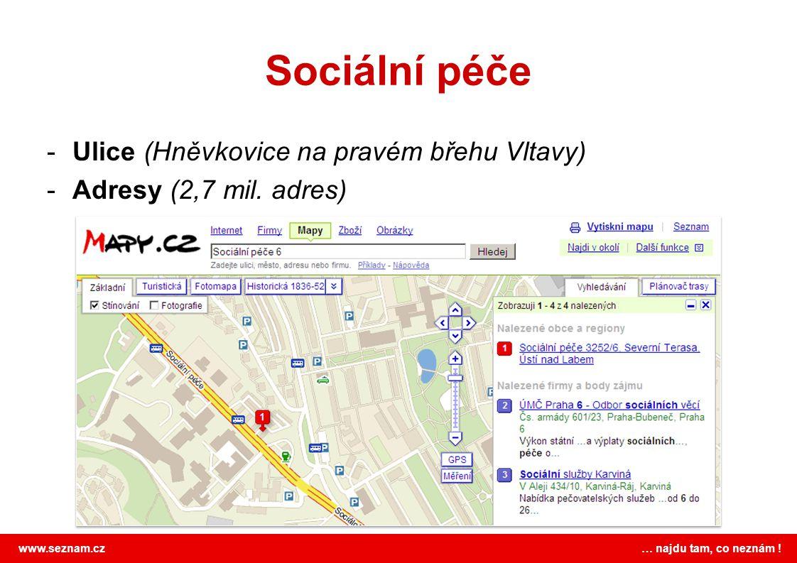 Sociální péče Ulice (Hněvkovice na pravém břehu Vltavy)