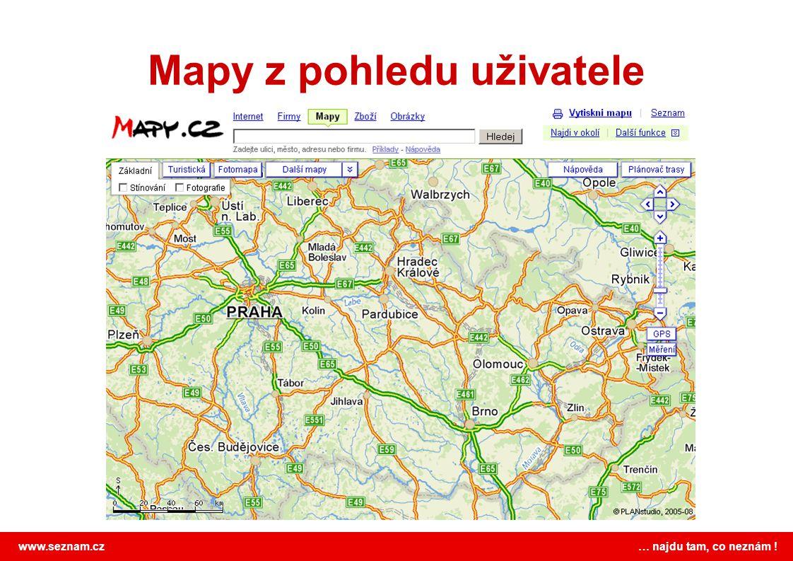 Mapy z pohledu uživatele