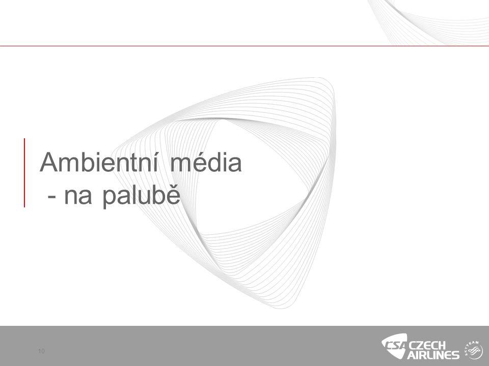 Ambientní média - na palubě