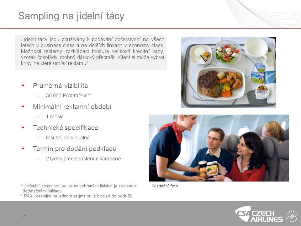Sampling na jídelní tácy