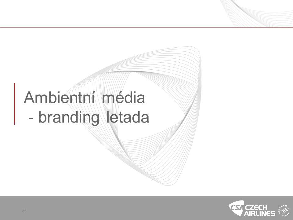 Ambientní média - branding letada
