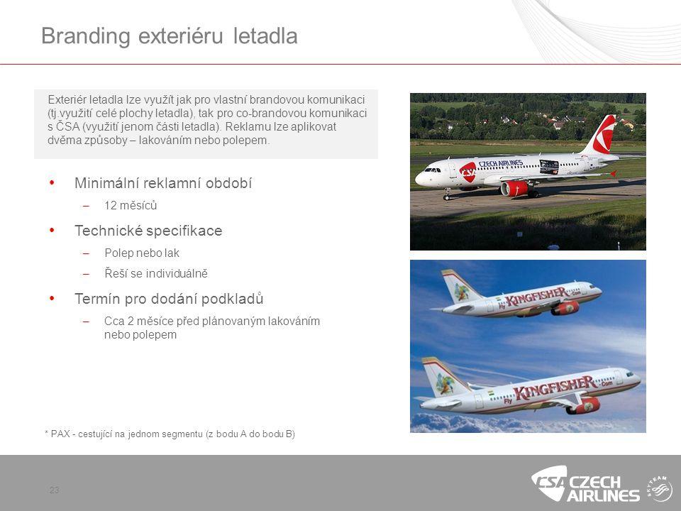 Branding exteriéru letadla