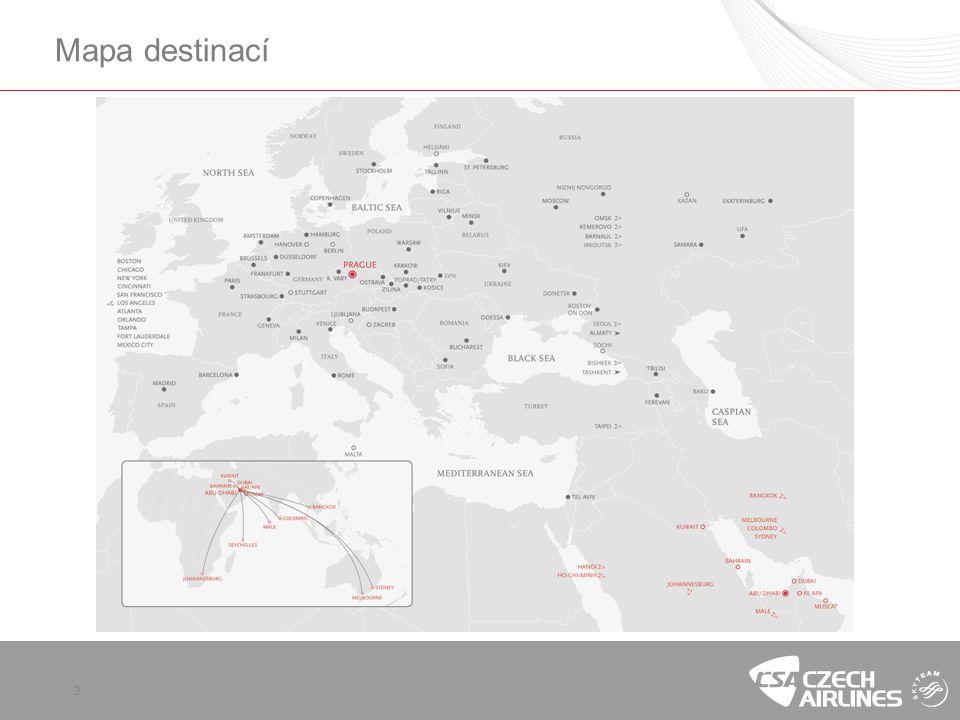Mapa destinací 3