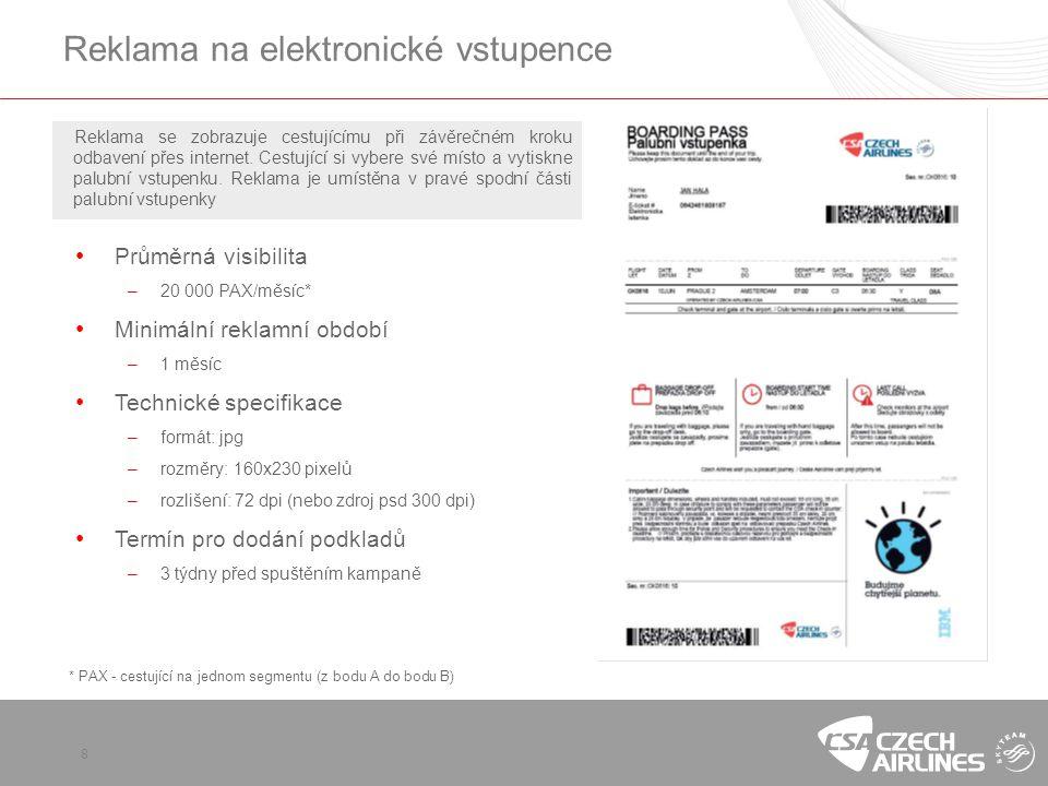 Reklama na elektronické vstupence
