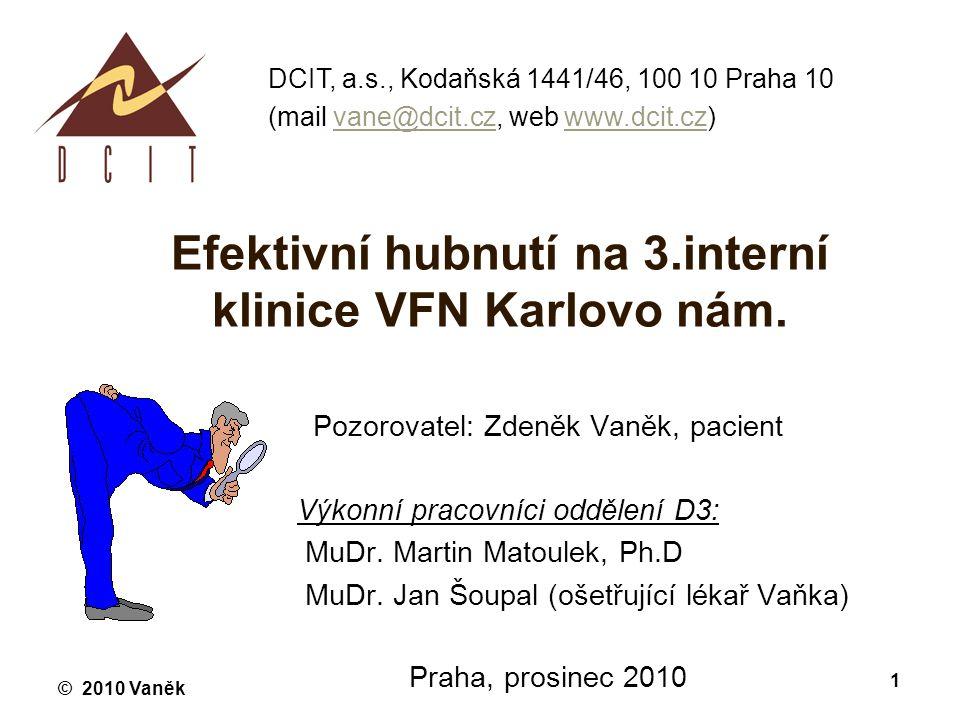 Efektivní hubnutí na 3.interní klinice VFN Karlovo nám.