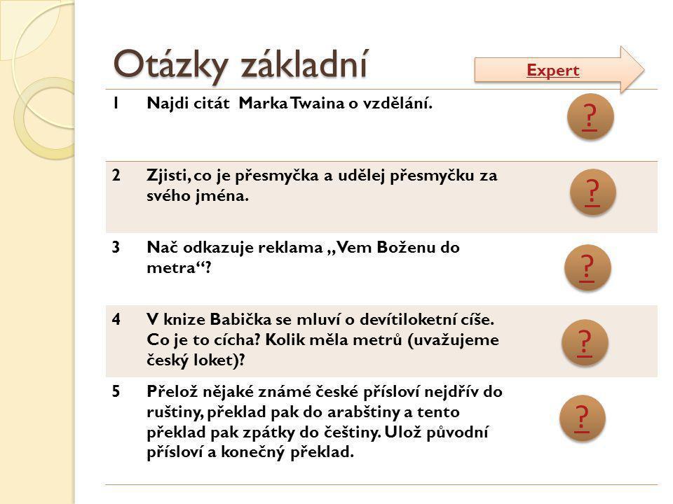 Otázky základní Expert 1