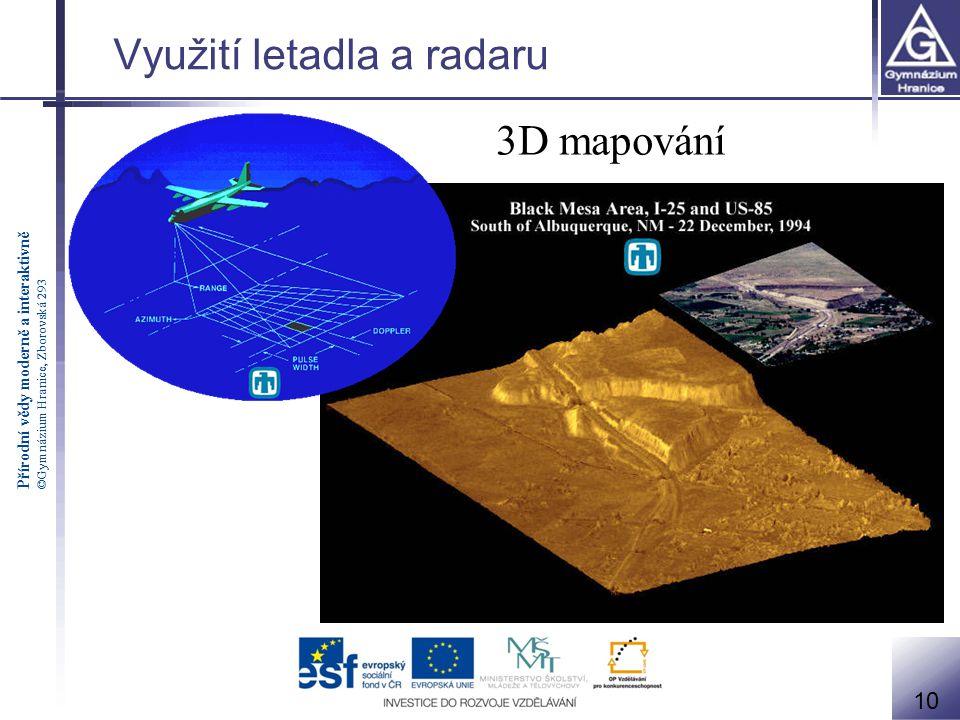 Využití letadla a radaru