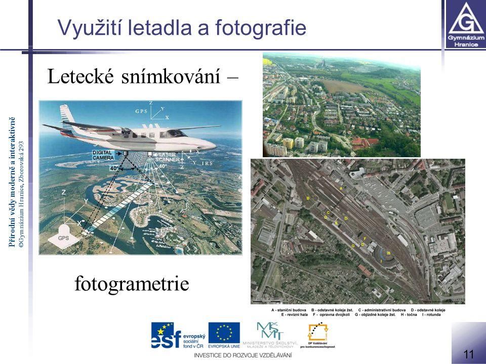 Využití letadla a fotografie