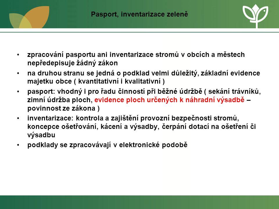 Pasport, inventarizace zeleně