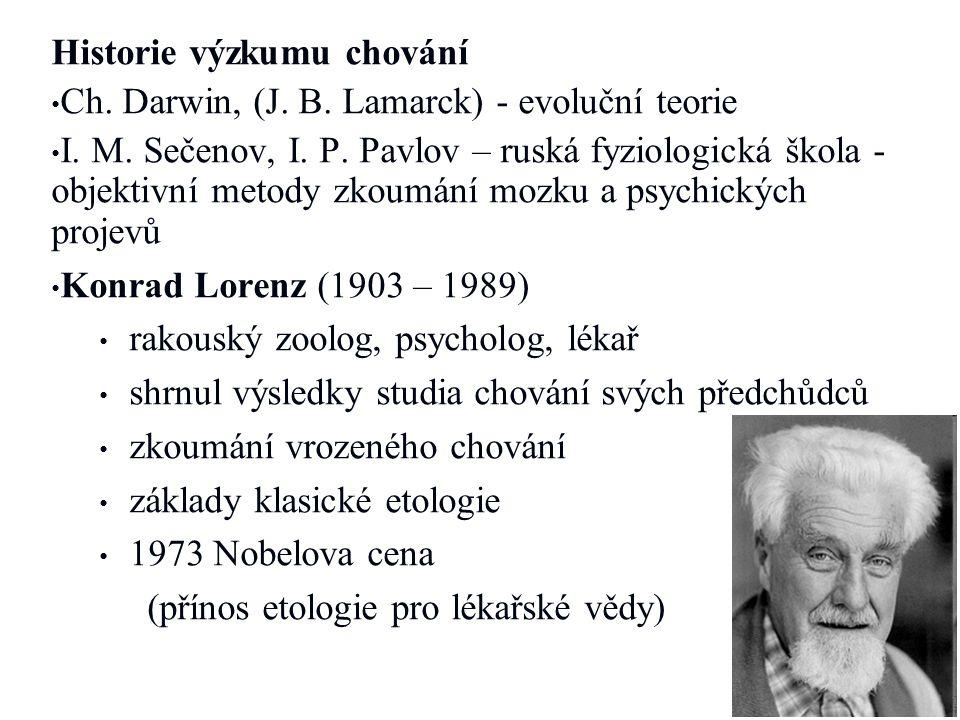 Historie výzkumu chování