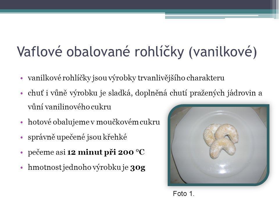 Vaflové obalované rohlíčky (vanilkové)