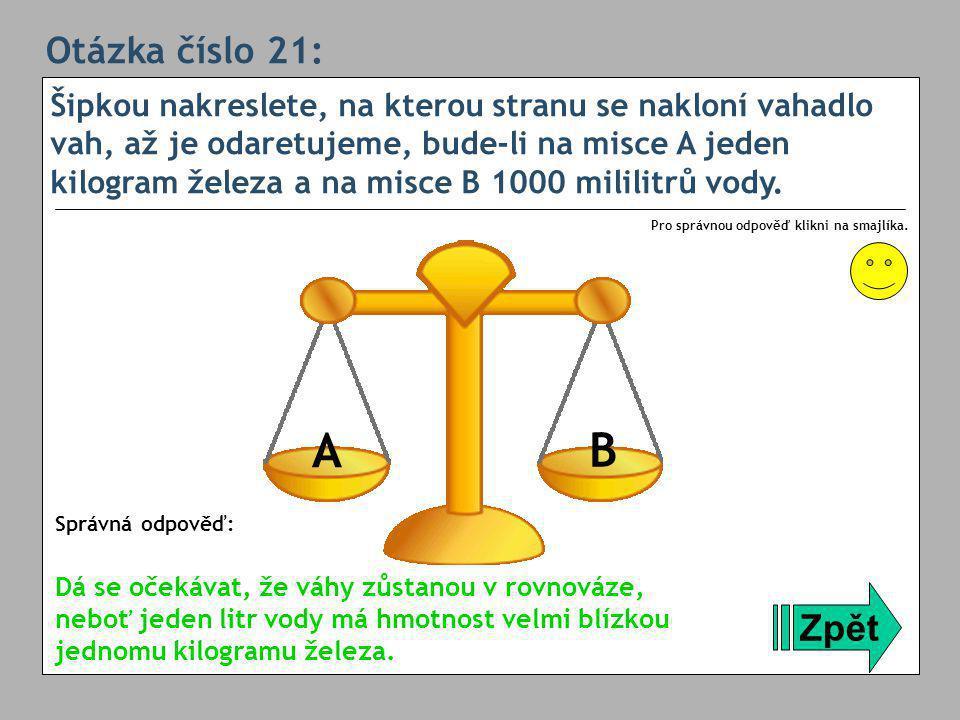 Otázka číslo 21:
