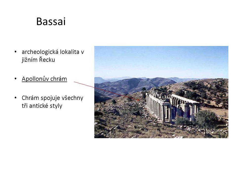 Bassai archeologická lokalita v jižním Řecku Apollonův chrám
