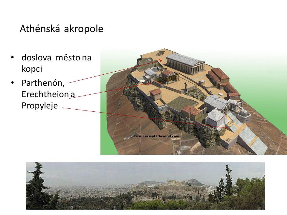 Athénská akropole doslova město na kopci