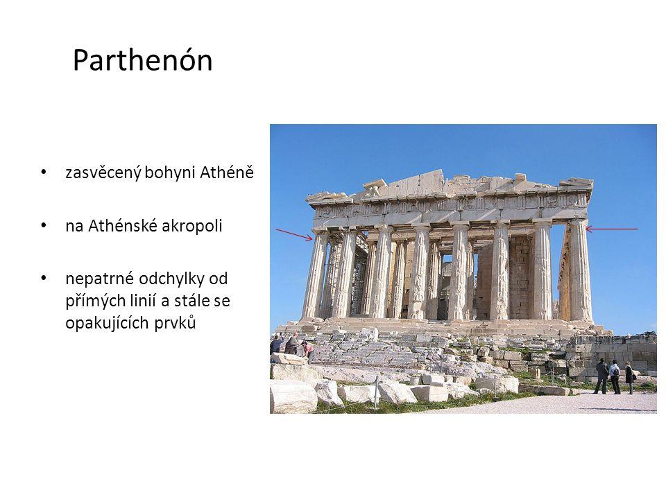 Parthenón zasvěcený bohyni Athéně na Athénské akropoli