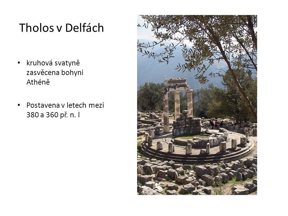 Tholos v Delfách kruhová svatyně zasvěcena bohyni Athéně