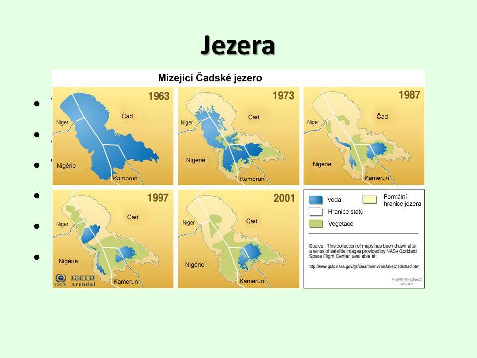 Jezera Viktoriino jezero – největší (3. na světě) Albertovo jezero