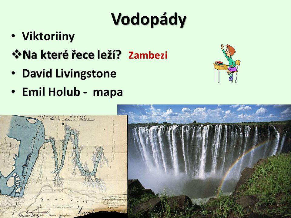 Vodopády Viktoriiny Na které řece leží David Livingstone