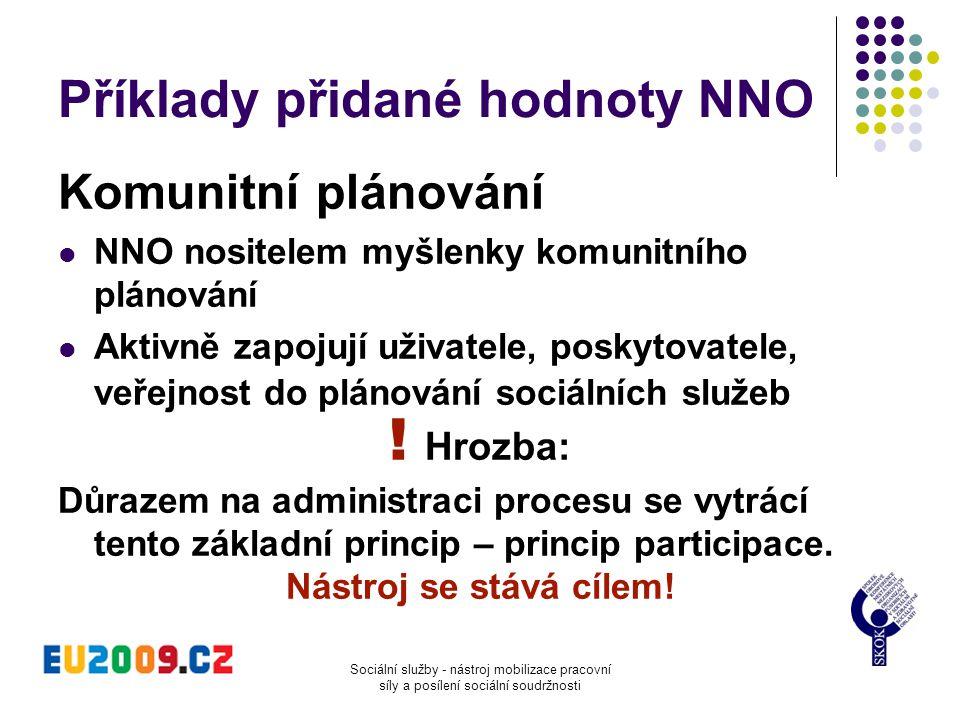 Příklady přidané hodnoty NNO