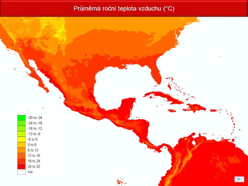 Průměrná roční teplota vzduchu (°C)